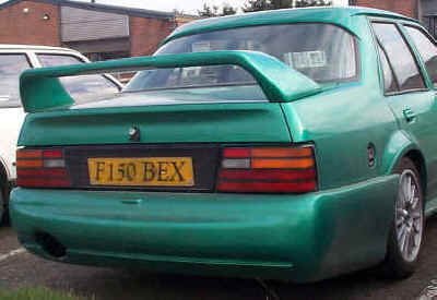 Cosworth style rear bumper for Orion, and rear EVO spoiler.