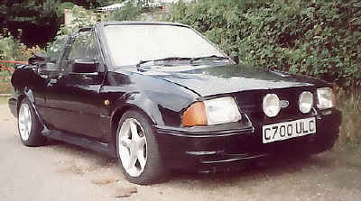 Basic Escort Cabrio fitted with RS Turbo bodykit